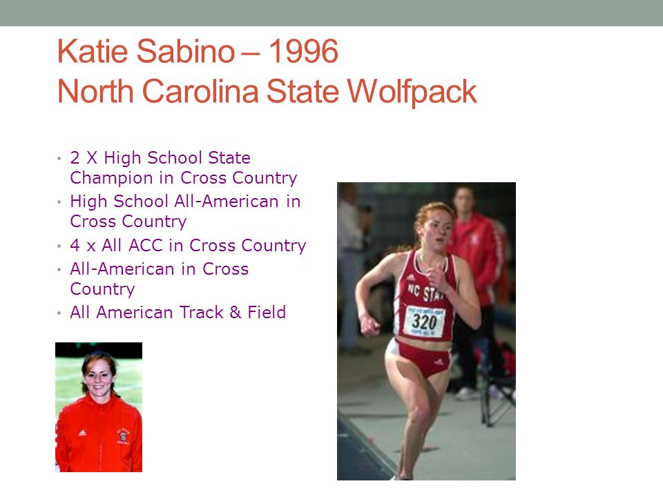 Katie Sabino – 1996 North Carolina State Wolfpack