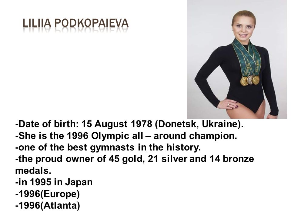 -Date of birth: 15 August 1978 (Donetsk, Ukraine).