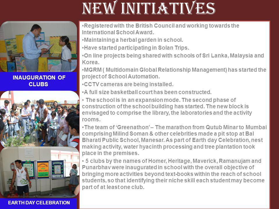 New Initiatives INAUGURATION OF CLUBS