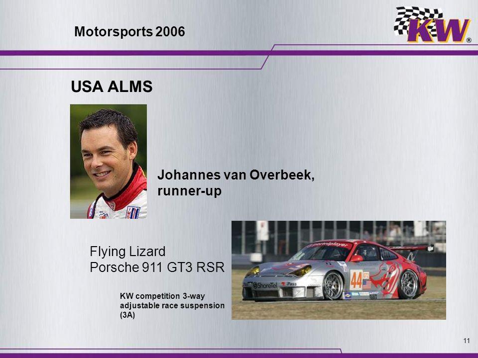 USA ALMS Motorsports 2006 Johannes van Overbeek, runner-up