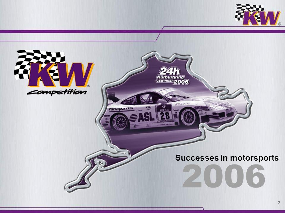 Successes in motorsports