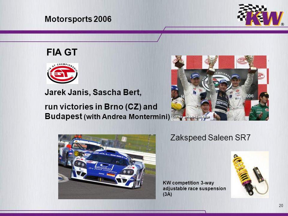 FIA GT Motorsports 2006 Jarek Janis, Sascha Bert,