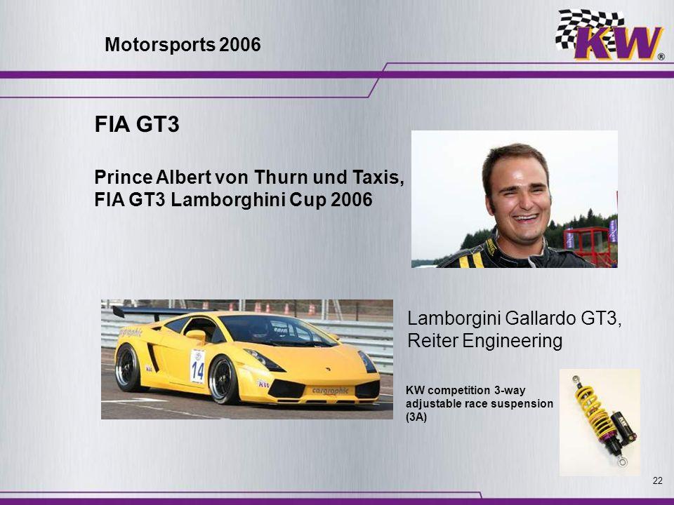 FIA GT3 Motorsports 2006 Prince Albert von Thurn und Taxis,