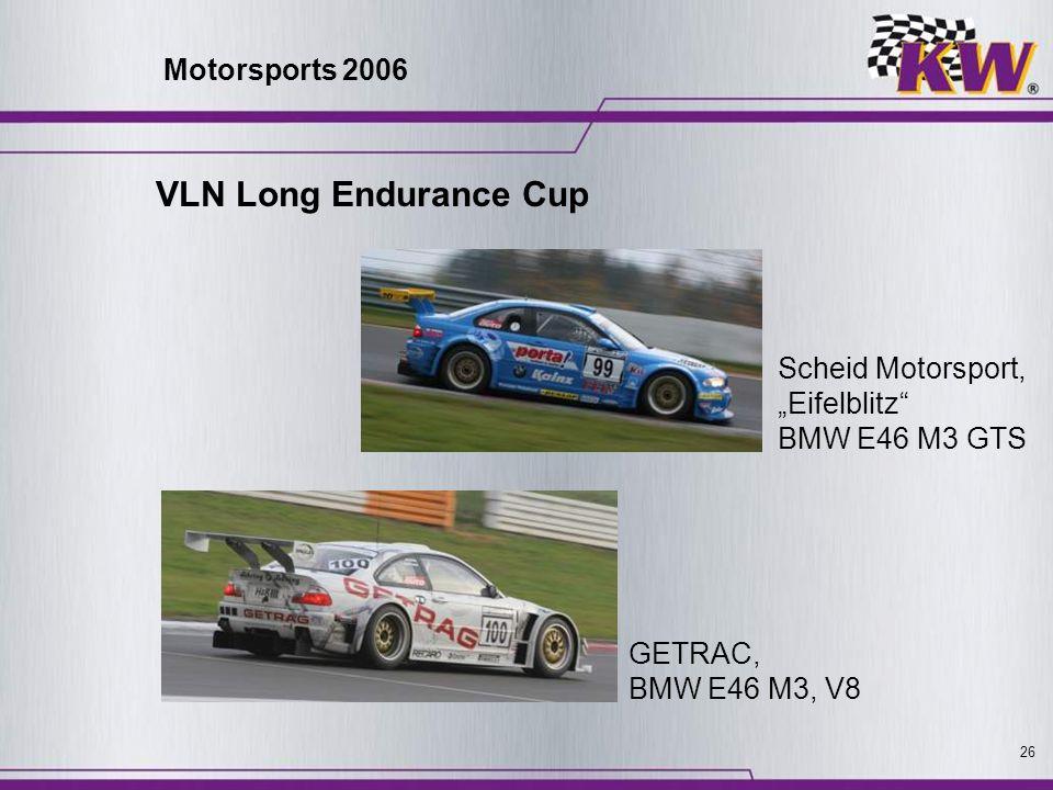 VLN Long Endurance Cup Motorsports 2006 Scheid Motorsport,