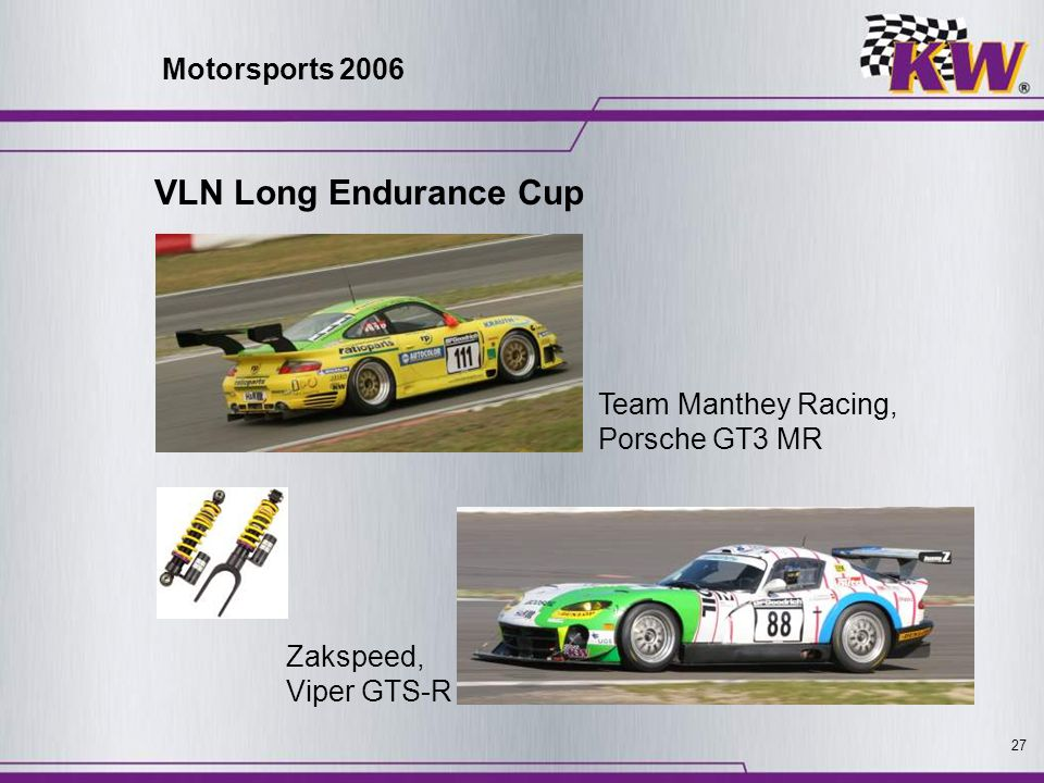 VLN Long Endurance Cup Motorsports 2006 Team Manthey Racing,