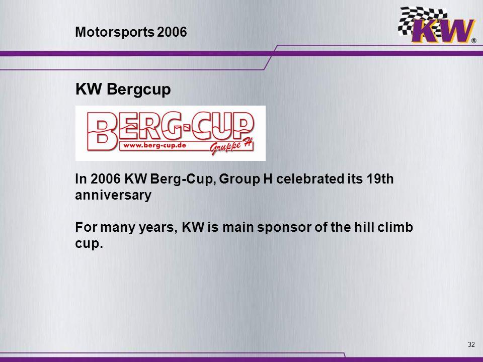 KW Bergcup Motorsports 2006