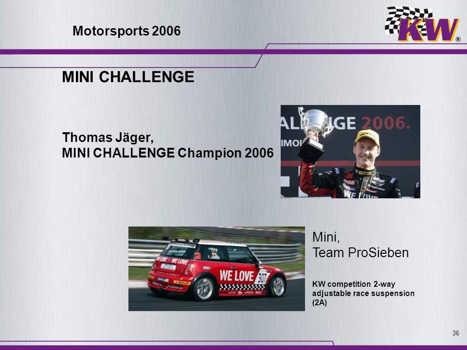 MINI CHALLENGE Motorsports 2006 Thomas Jäger,