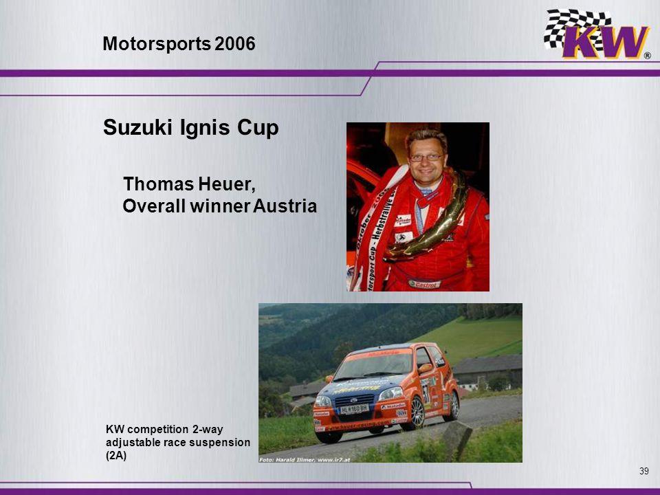 Suzuki Ignis Cup Motorsports 2006 Thomas Heuer, Overall winner Austria