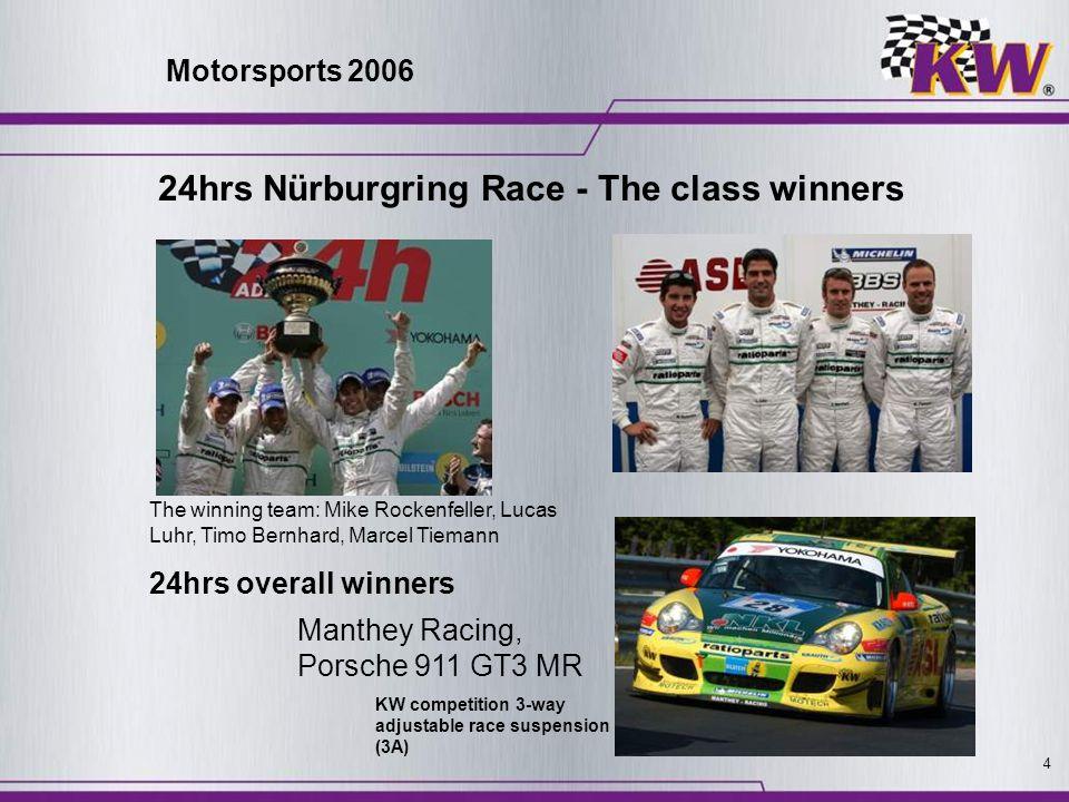24hrs Nürburgring Race - The class winners