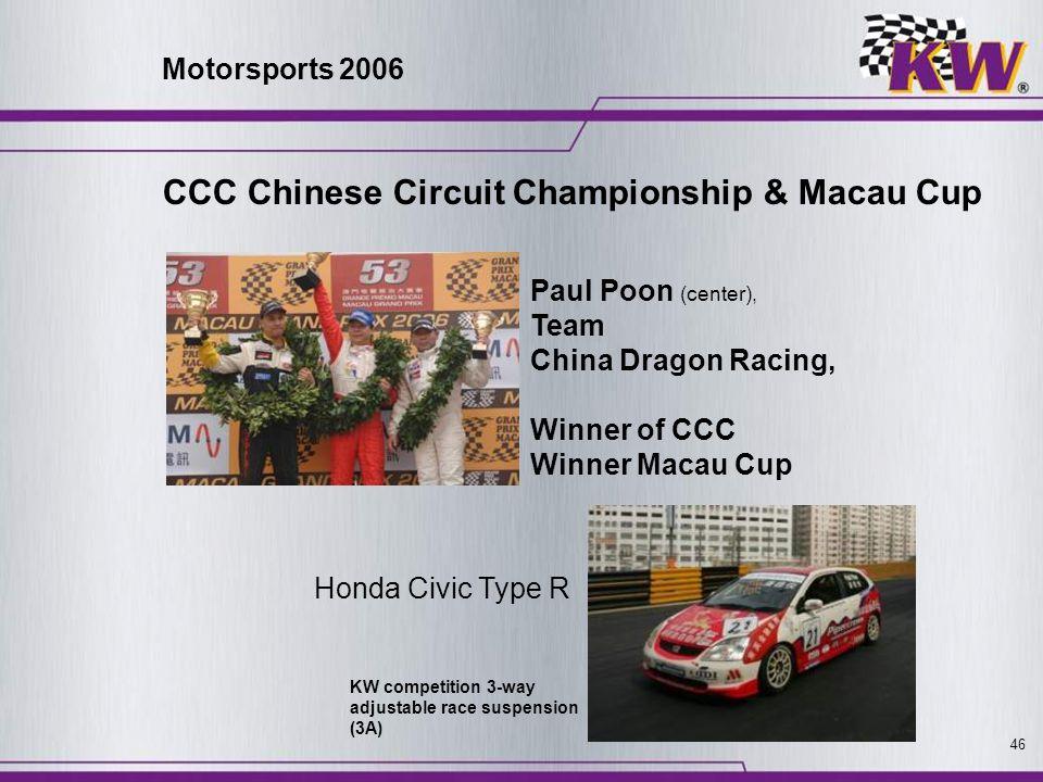 CCC Chinese Circuit Championship & Macau Cup