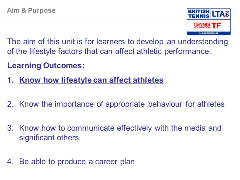 Know how lifestyle can affect athletes