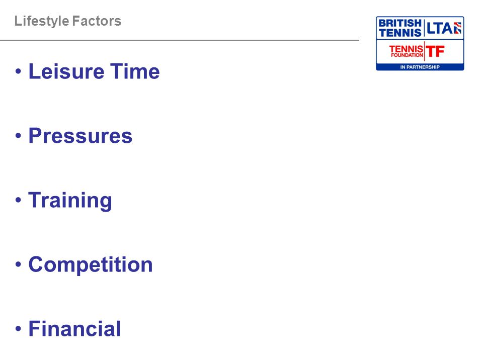 Leisure Time Pressures Training Competition Financial