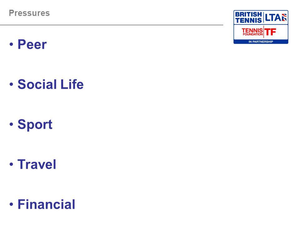 Peer Social Life Sport Travel Financial Pressures Tutor Guidance: