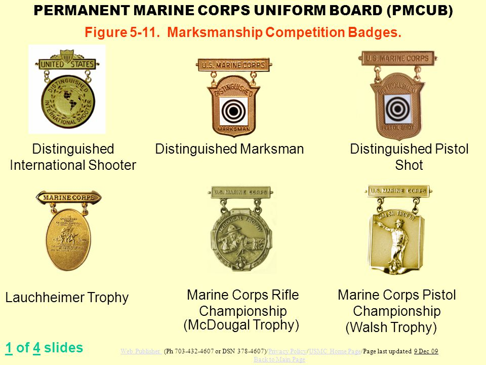 Figure 5-11. Marksmanship Competition Badges.