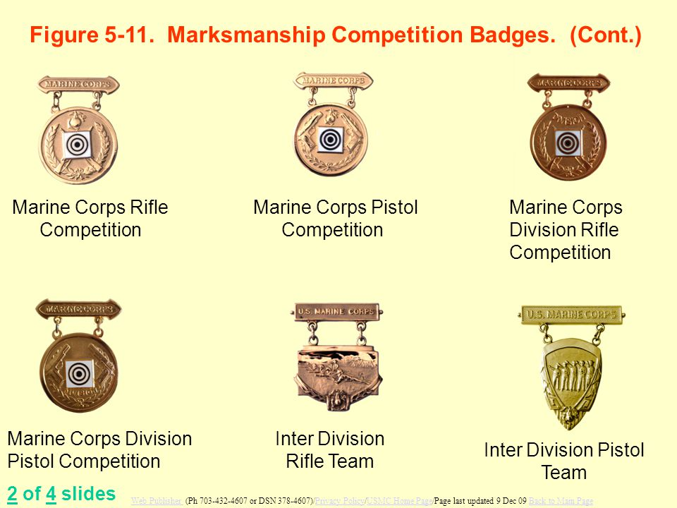 Figure 5-11. Marksmanship Competition Badges. (Cont.)