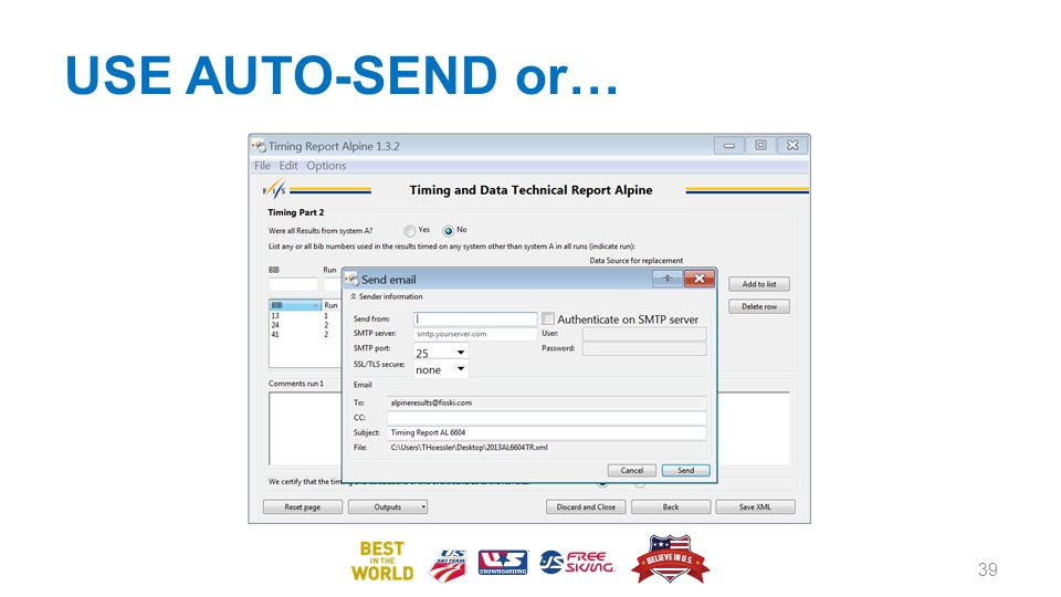 USE AUTO-SEND or…