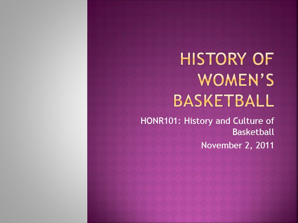 History of women's basketball