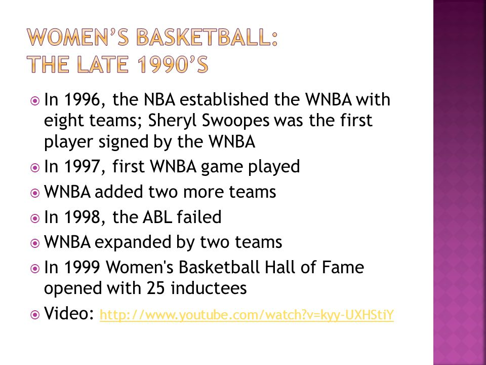 Women's basketball: The late 1990's
