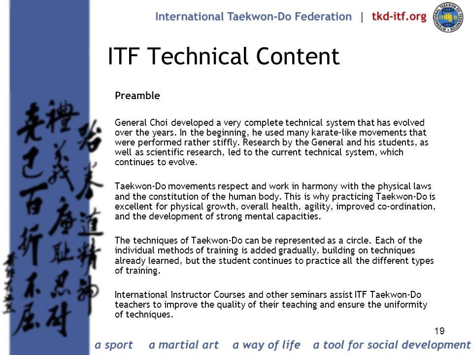 ITF Technical Content Preamble