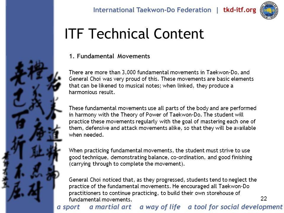 ITF Technical Content 1. Fundamental Movements