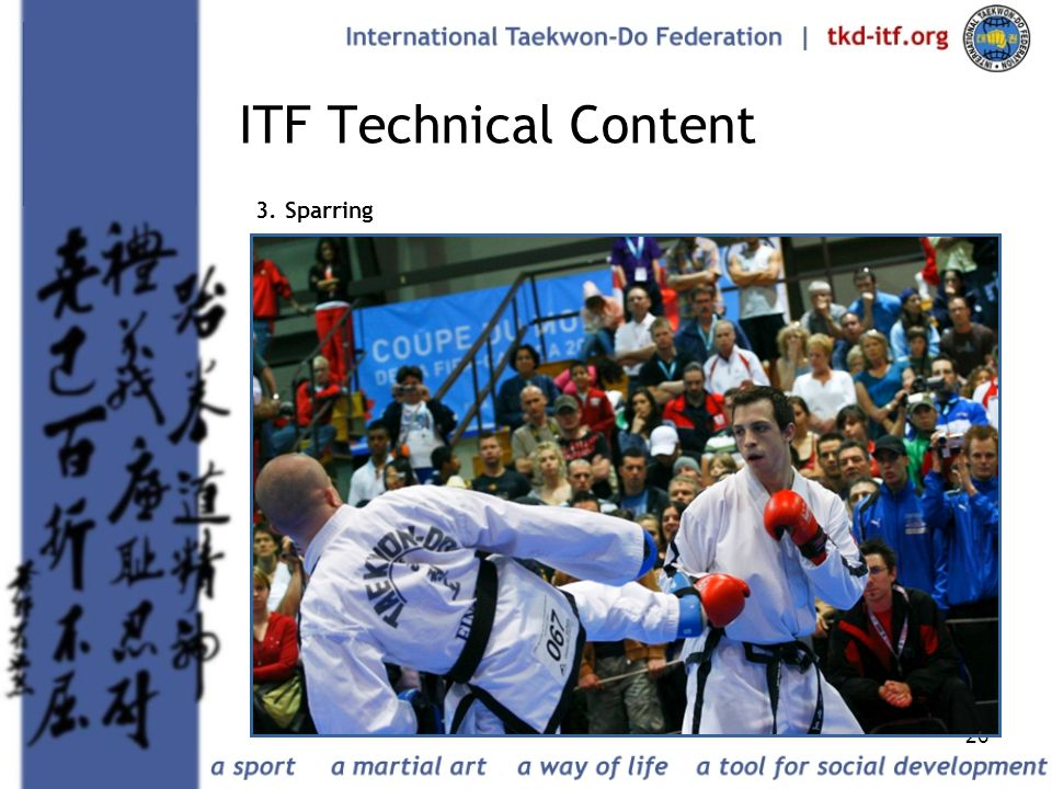 ITF Technical Content 3. Sparring