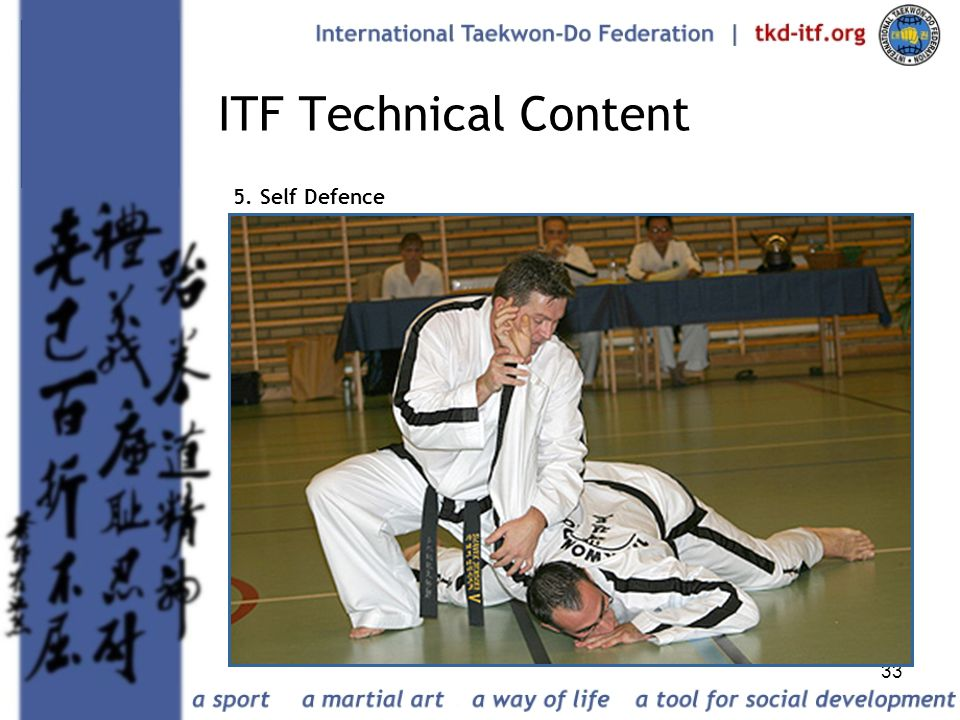 ITF Technical Content 5. Self Defence