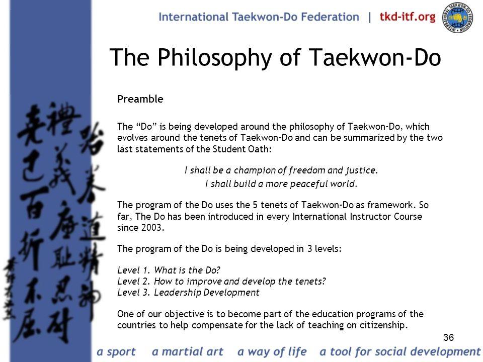 The Philosophy of Taekwon-Do