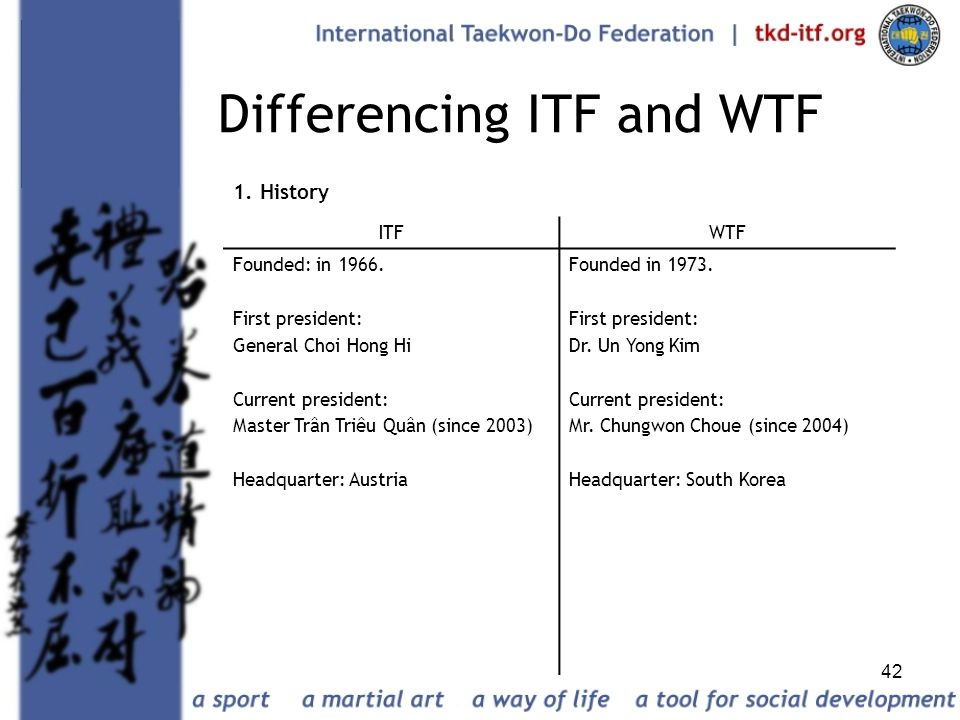 Differencing ITF and WTF