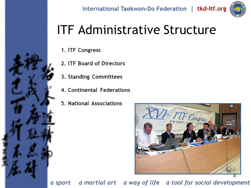 ITF Administrative Structure