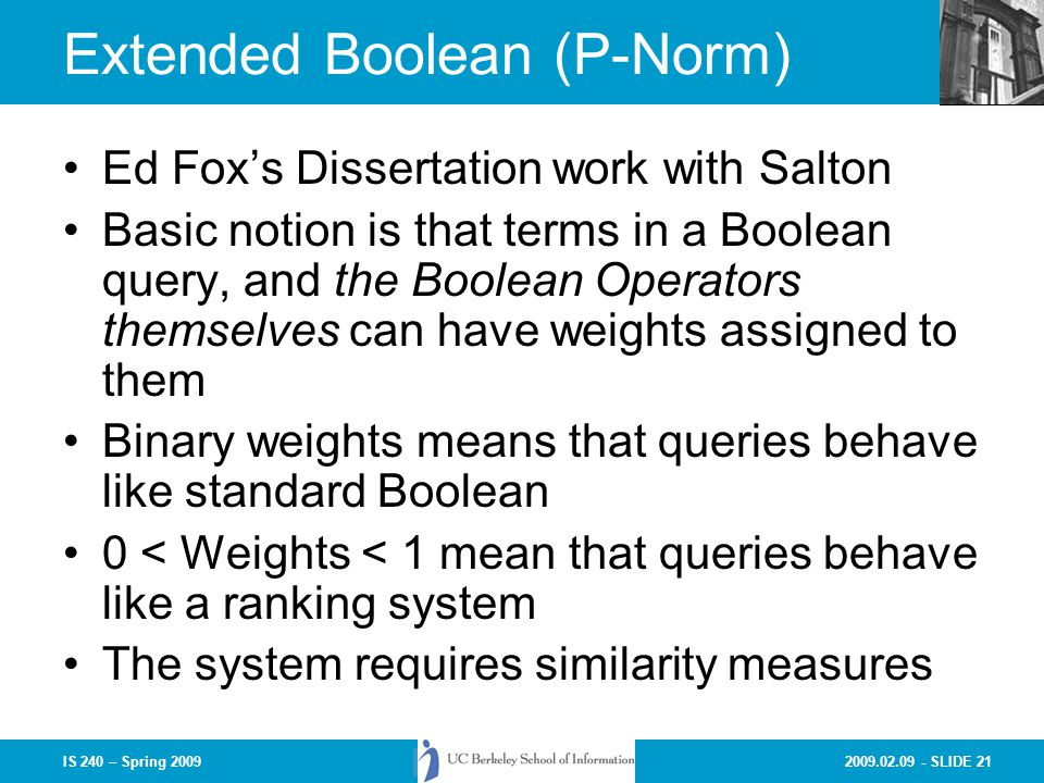 Extended Boolean (P-Norm)
