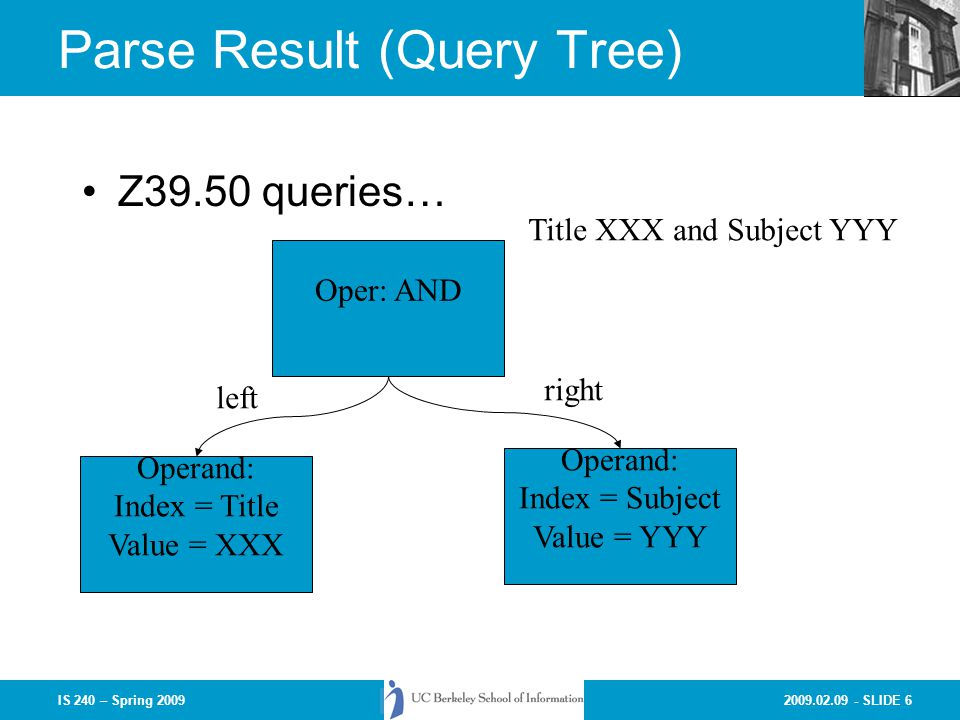 Parse Result (Query Tree)
