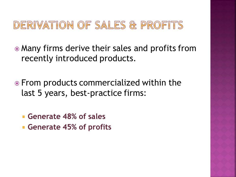 Derivation of Sales & Profits