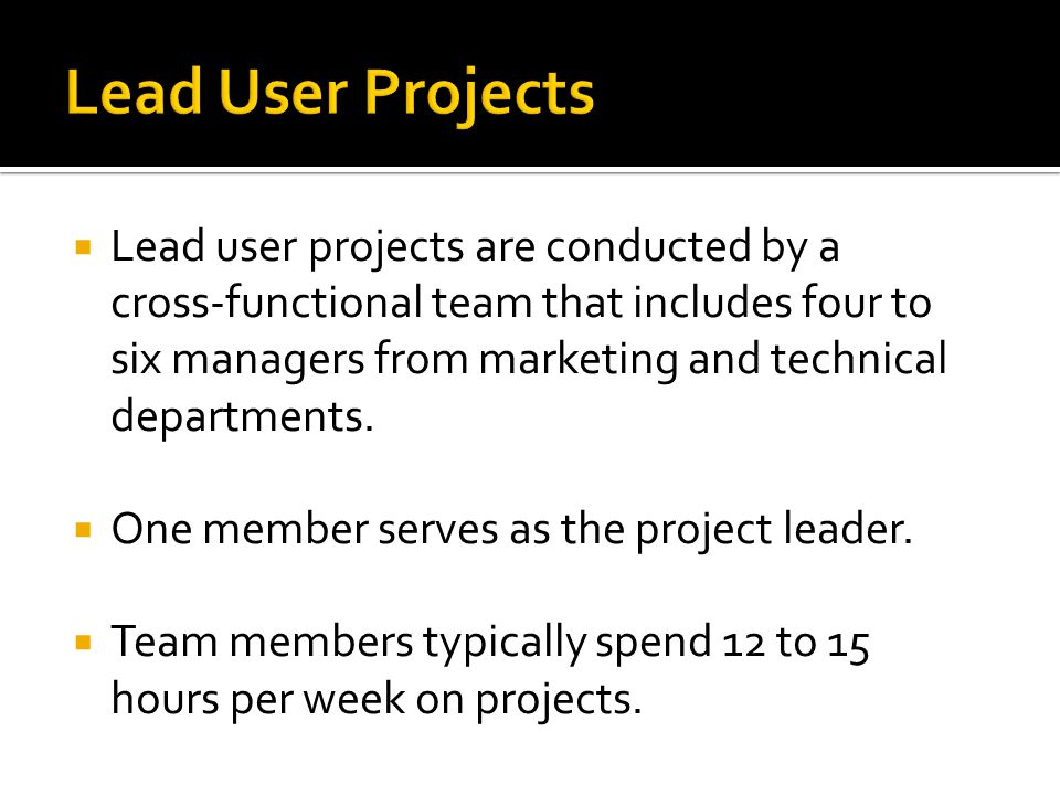 Lead User Projects