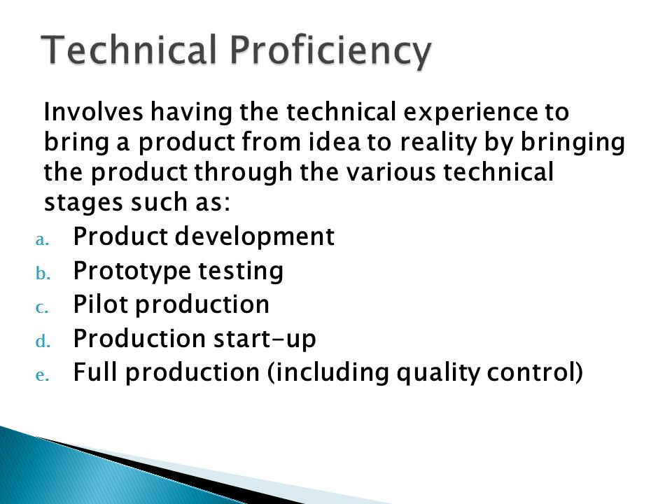 Technical Proficiency