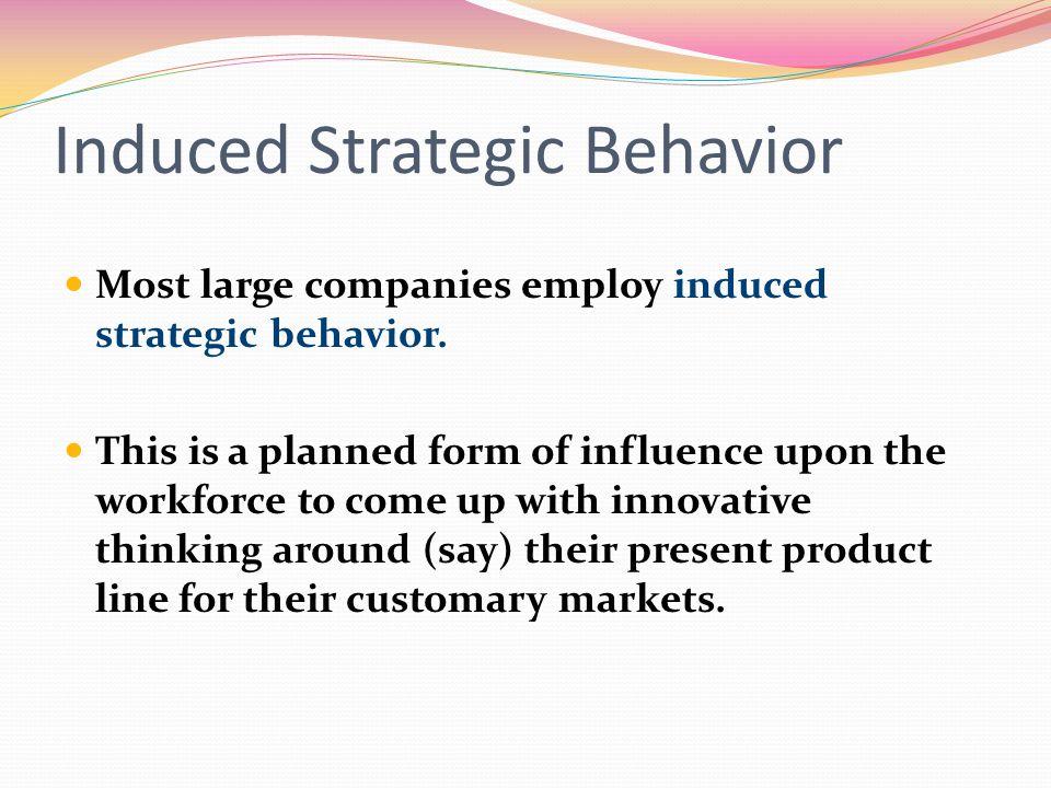 Induced Strategic Behavior