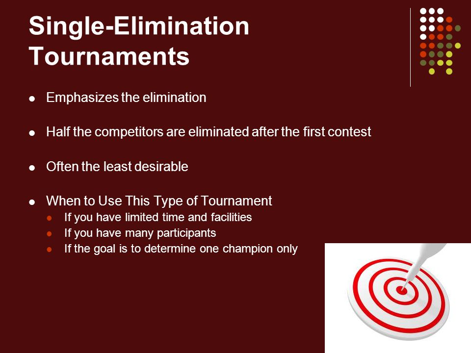 Single-Elimination Tournaments
