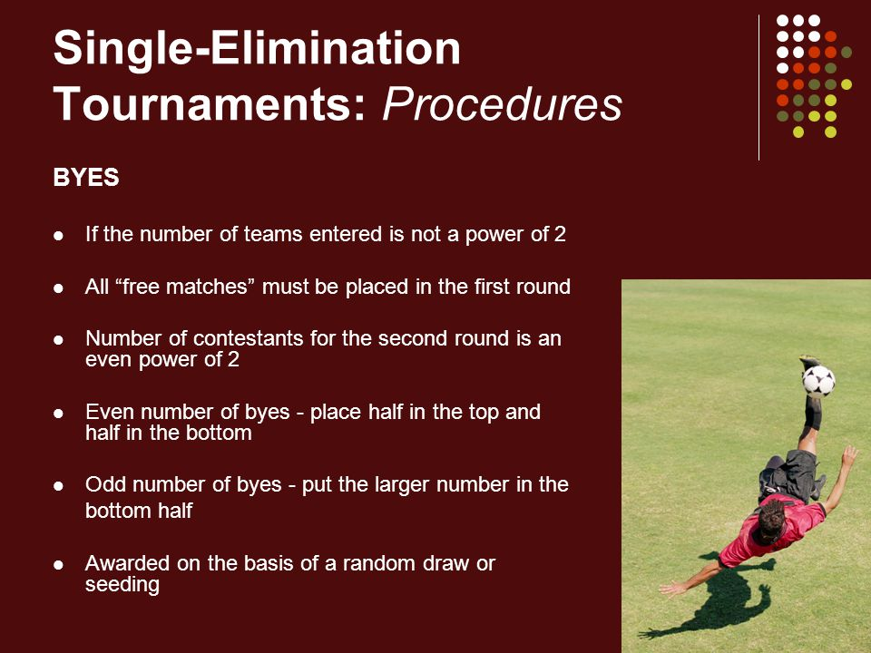 Single-Elimination Tournaments: Procedures