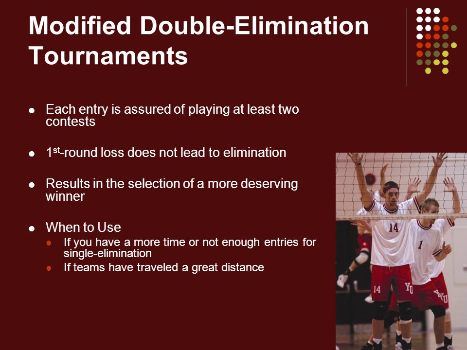 Modified Double-Elimination Tournaments