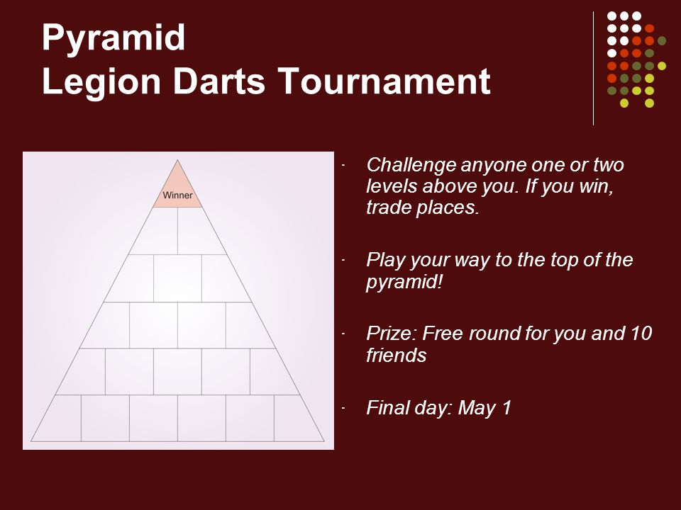 Pyramid Legion Darts Tournament