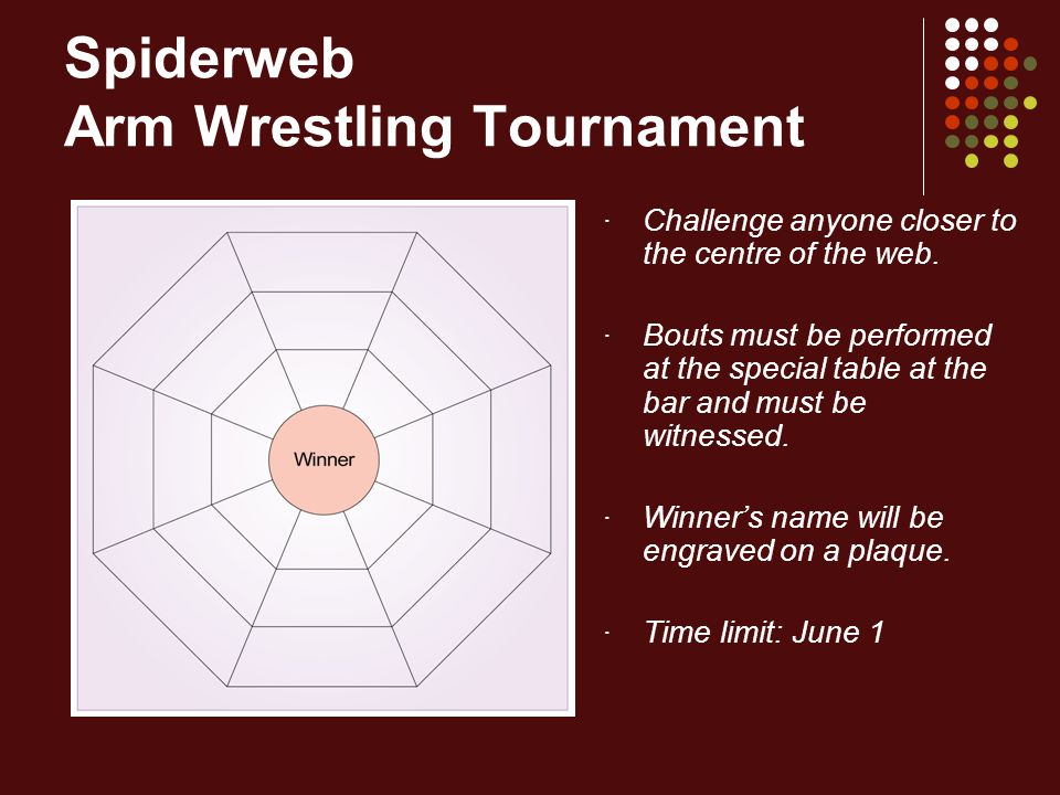 Spiderweb Arm Wrestling Tournament