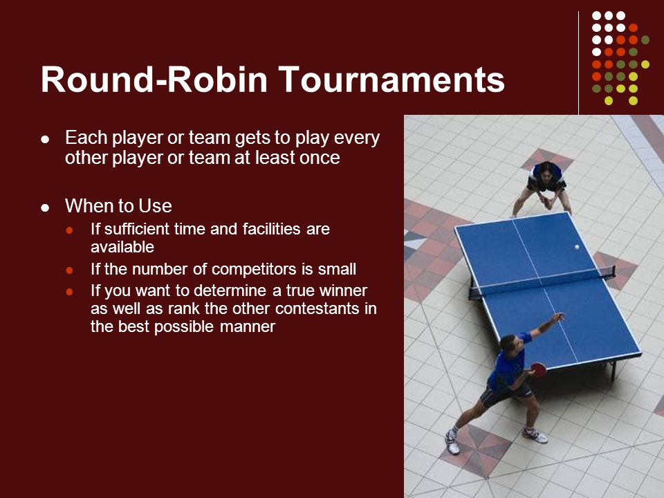 Round-Robin Tournaments