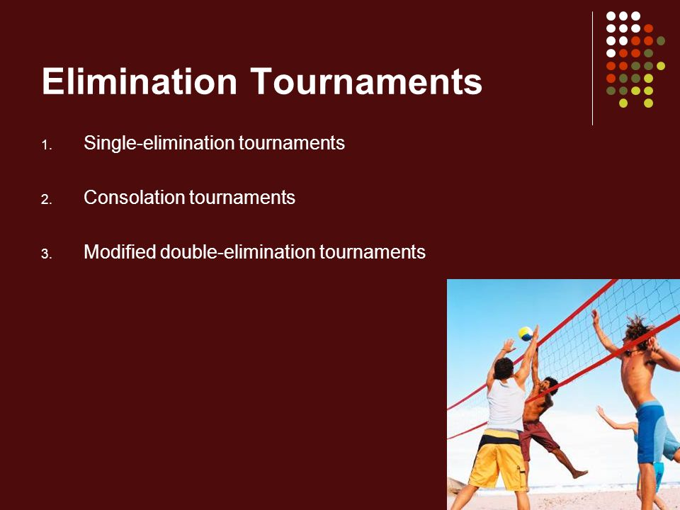Elimination Tournaments