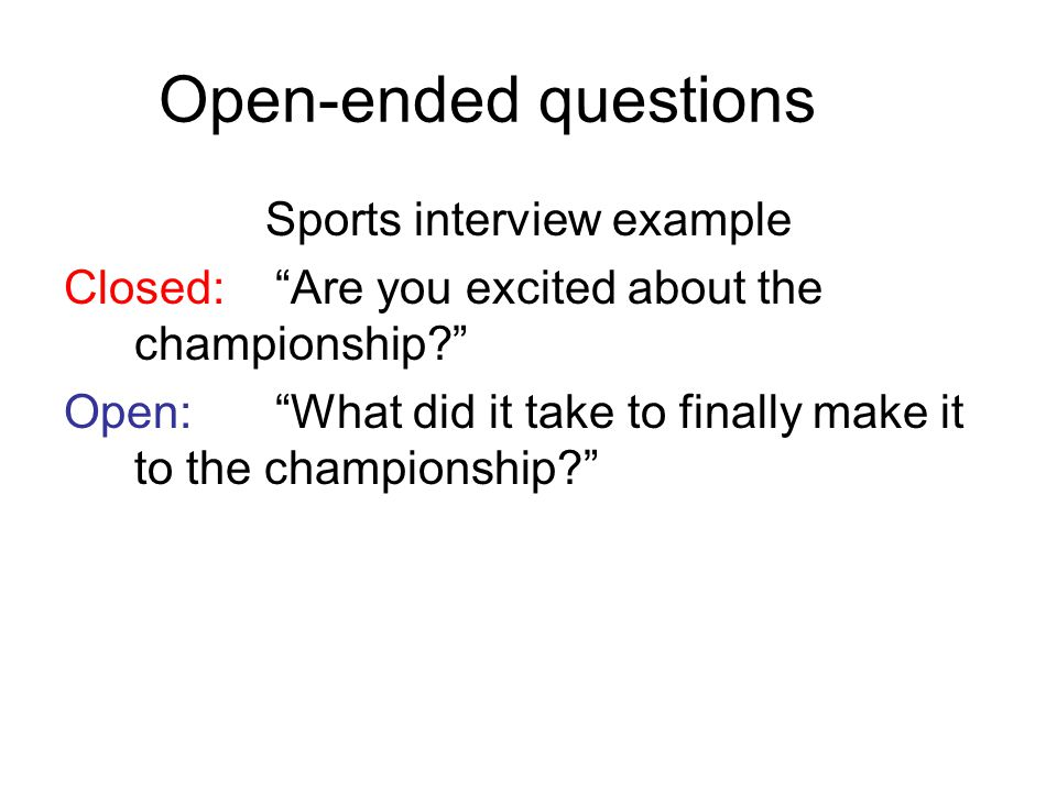 Sports interview example