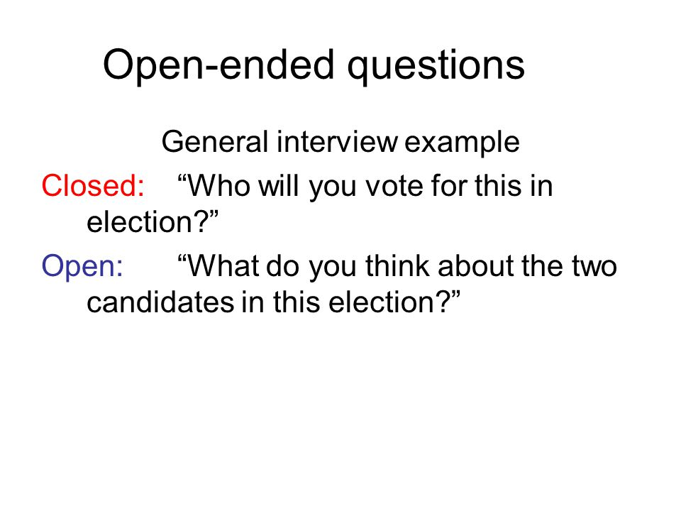 General interview example