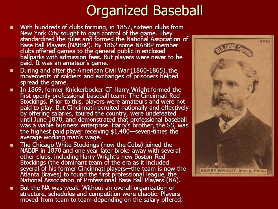 Organized Baseball