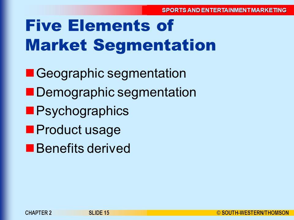 Five Elements of Market Segmentation