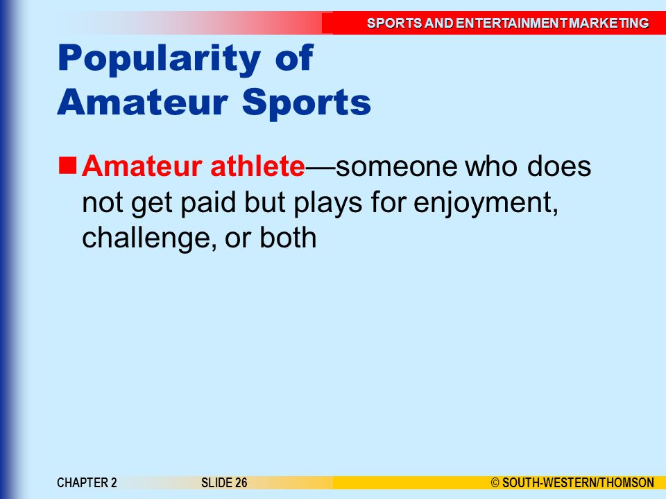 Popularity of Amateur Sports
