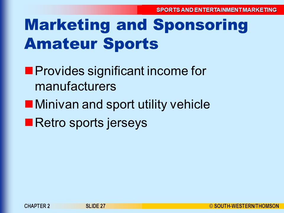 Marketing and Sponsoring Amateur Sports