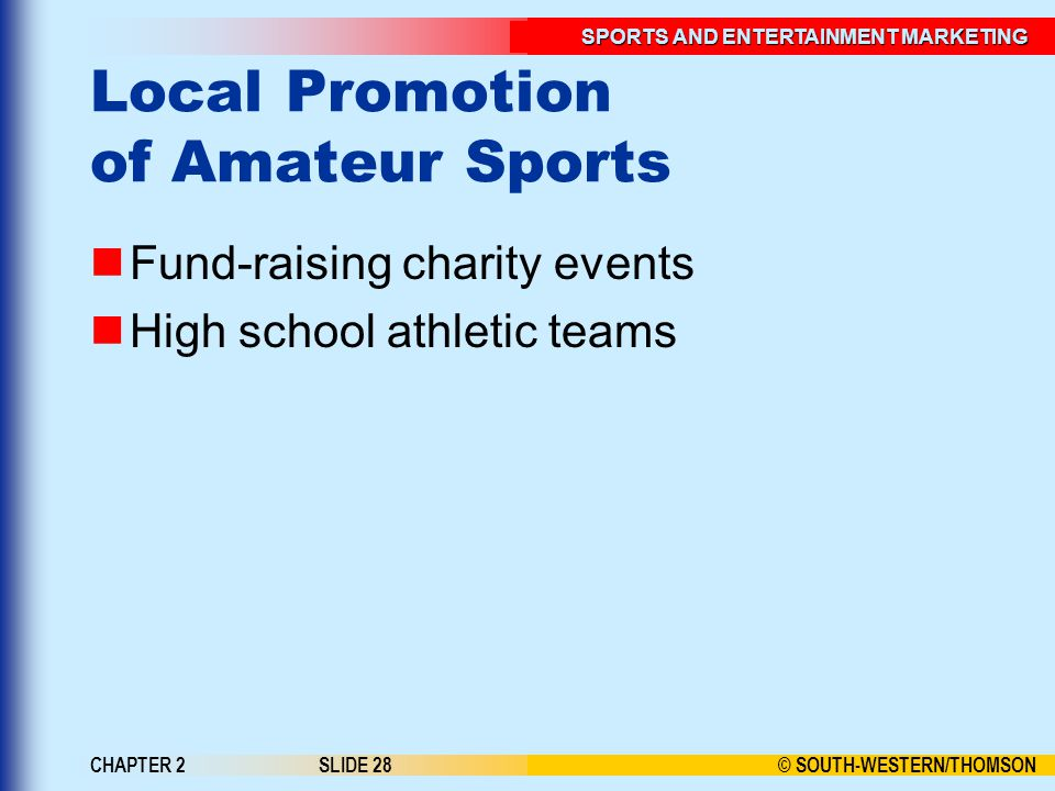 Local Promotion of Amateur Sports