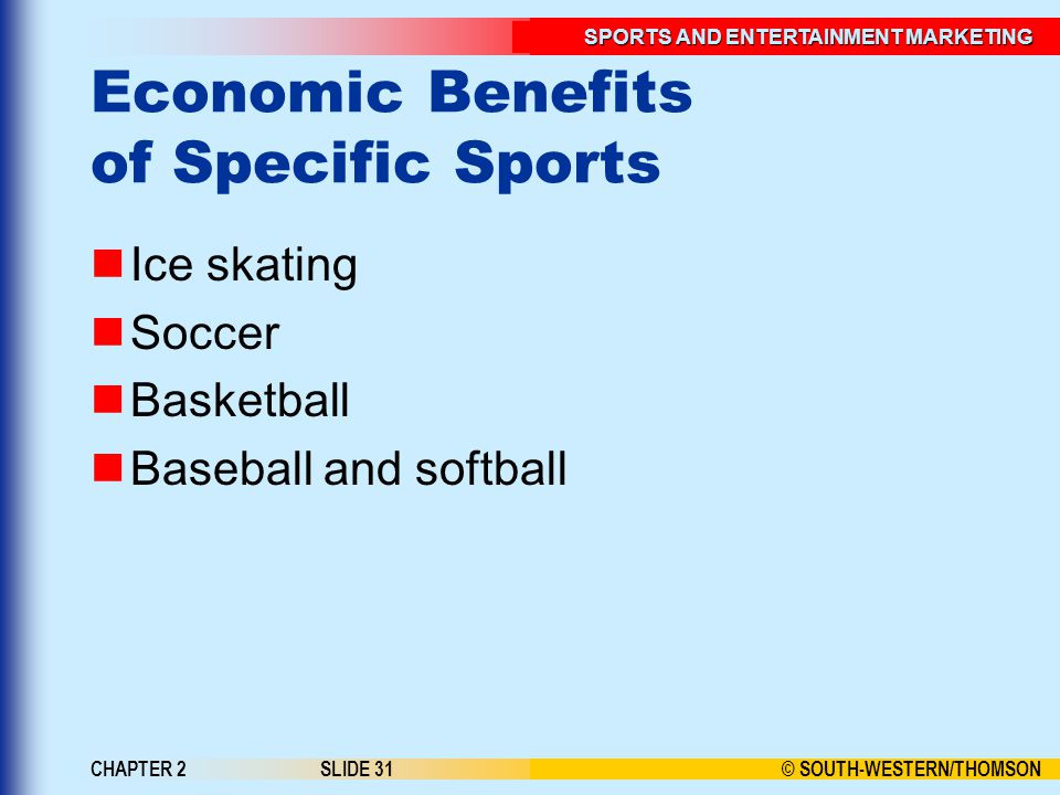 Economic Benefits of Specific Sports